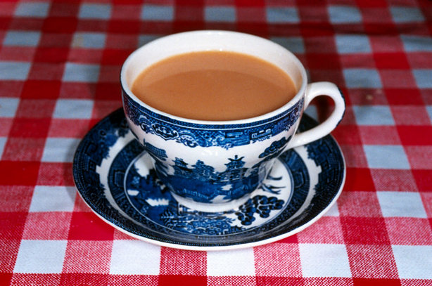Cup of tea in delft cup