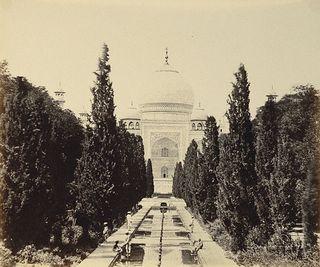 Taj Mahal, old 19th century picture
